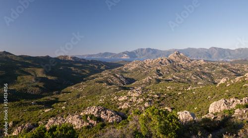 Fotografija Beautiful mountain scenery in Corsica, Desert des Agriates