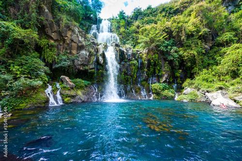 Photo The Egret basin waterfall on La Reunion island