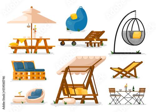 Fotomural Garden furniture