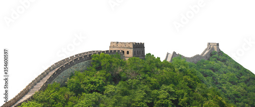 Tablou Canvas Great Wall of China isolated on white background