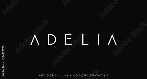 adelia, luxury modern font alphabetical vector set