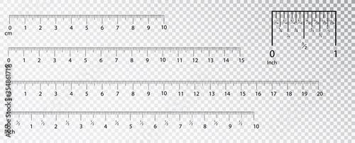Canvas Print Rulers Inch and metric rulers