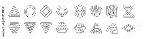 Fotografia, Obraz Set of impossible shapes