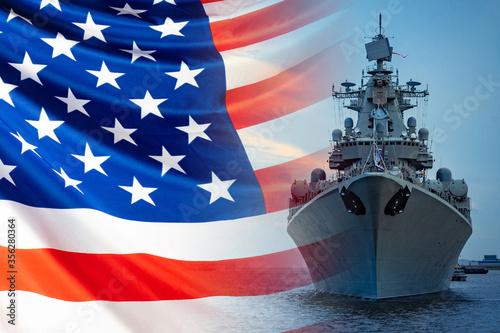 Billede på lærred The concept is the us Navy