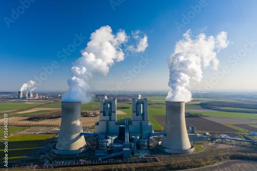 Obraz na płótnie Brown coal power plant