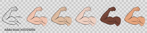 Foto Biceps of a sports person