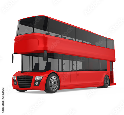 Photo Double Decker Bus Isolated