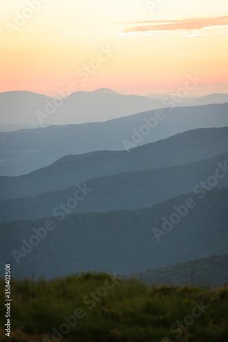 Sunrise from the Appalachian Trail on Roan Mountain Tapéta, Fotótapéta