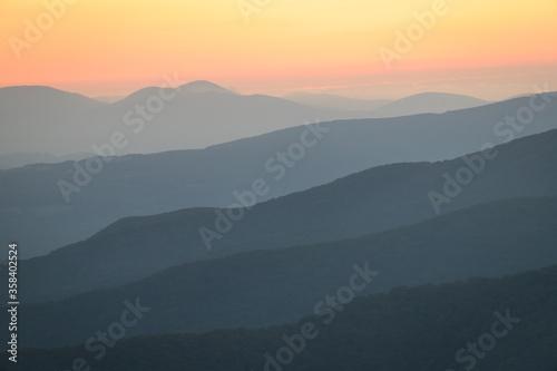 Obraz na płótnie Sunrise from the Appalachian Trail on Roan Mountain