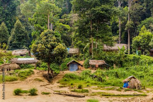 Fototapeta Indigenous village in Taman Negara national park.