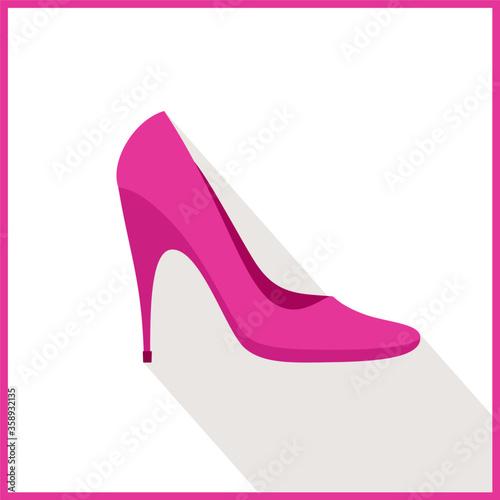 Fotografie, Obraz pink high heel shoes icon