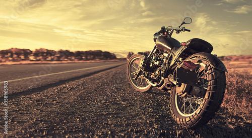 Fényképezés Freedom. Motorbike under sky