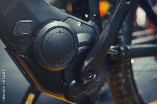 Fotografia, Obraz electric bicycle motor inside the frame,