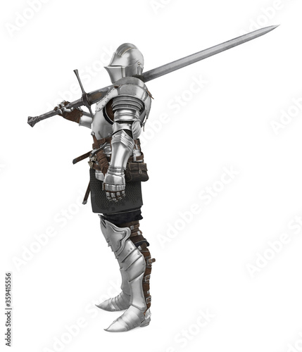 Tablou Canvas Medieval Knight Armor Isolated