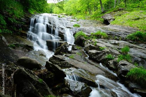 Fotografia, Obraz Waterfall on One Hundred Waterfalls track, Abruzzo, Gran Sasso, Italy