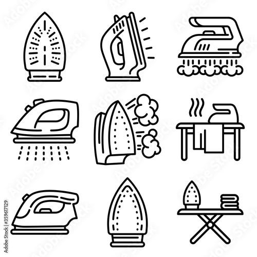 Fotografia, Obraz Smoothing-iron icons set
