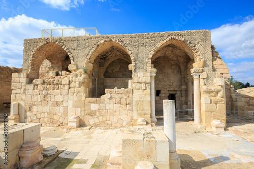 Ancient crusader Church in Bet Guvrin Fotobehang