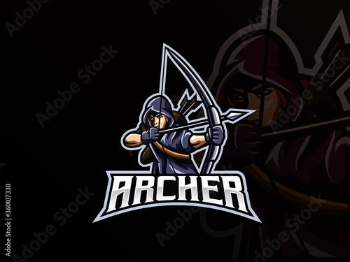 Photo Archer mascot sport logo design