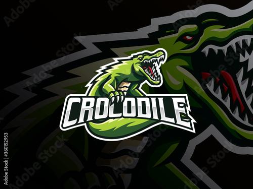 Obraz na płótnie Crocodile mascot sport logo design