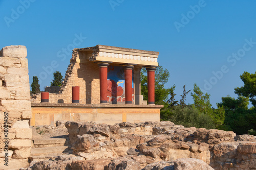 Canvas Print Temple of Knossus Crete famous minoan palace