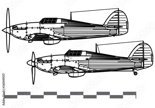 Obraz na plátně Hawker Hurricane MkI