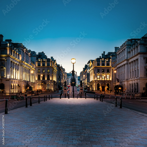 фотография Looking back towards Piccadilly Circus, London, just after sunset