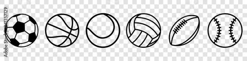 Slika na platnu Sport balls set