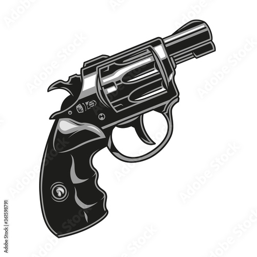 Obraz na plátně Vintage concept of revolver