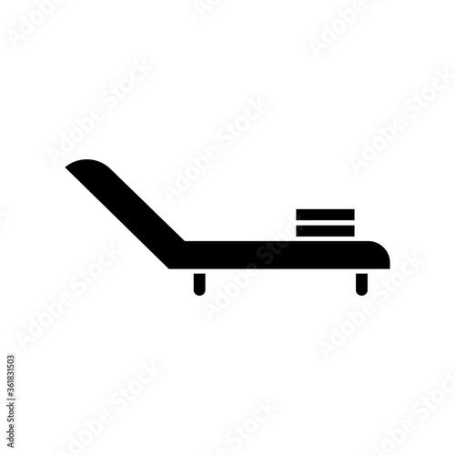 Slika na platnu Deck chair black glyph icon