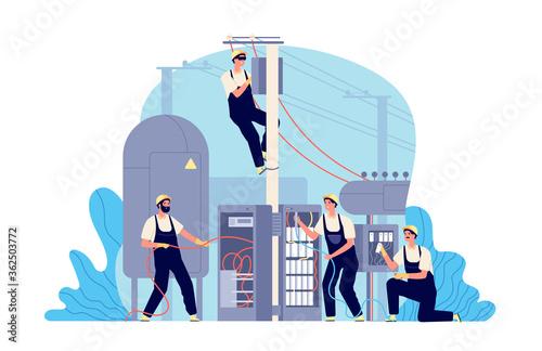 Tableau sur Toile Electricity energy maintenance