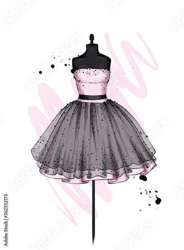 A beautiful dress with a lush skirt Fototapet