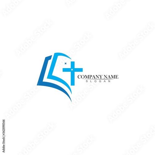 Church logo template design vector illustration Fototapete