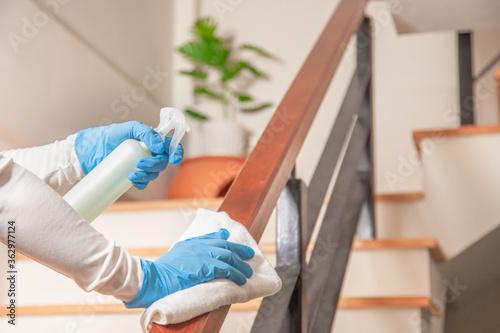 Valokuva Deep cleaning for Coronavirus disease prevention