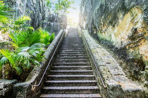 Fototapeta Queen's Staircase in Nassau, Bahamas.