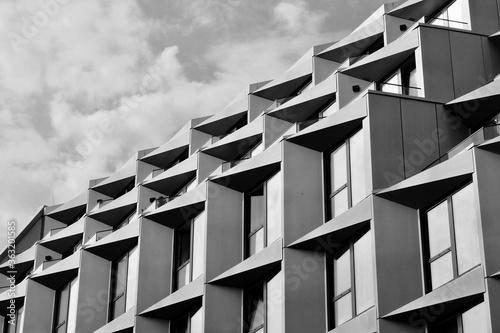 Obraz na plátne Low Angle View Of Residential Building Against Sky