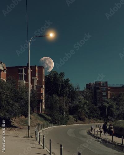 Fotografia, Obraz Street Lights Against Clear Sky At Night