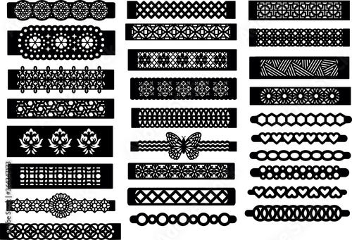 Canvas-taulu Patterned Bracelet Template Jewelry Making