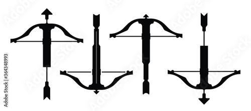 Fotografia Crossbow with arrows vector