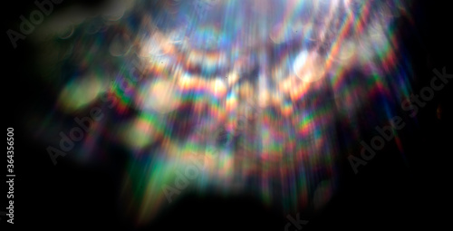 Tablou Canvas Lens flare effect on black background