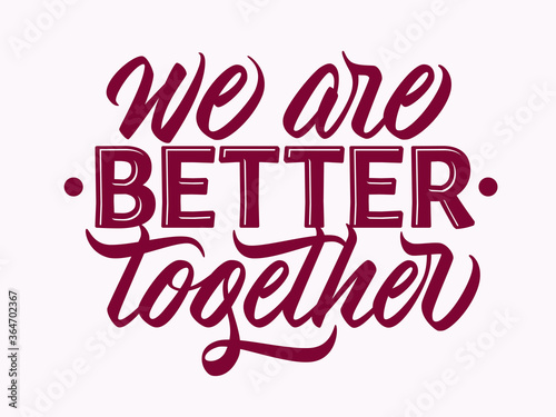 Canvastavla We are better together - design with hand lettering