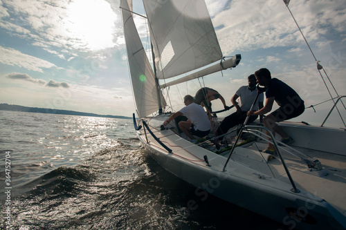 Fotografie, Obraz Sailing yacht race. Yachting. Sailing regatta.