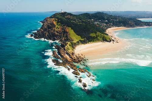 Foto Aerial View of Byron Bay Lighthouse