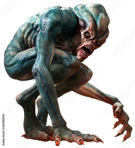 Canvas Print Swamp horror monster 3D illustration