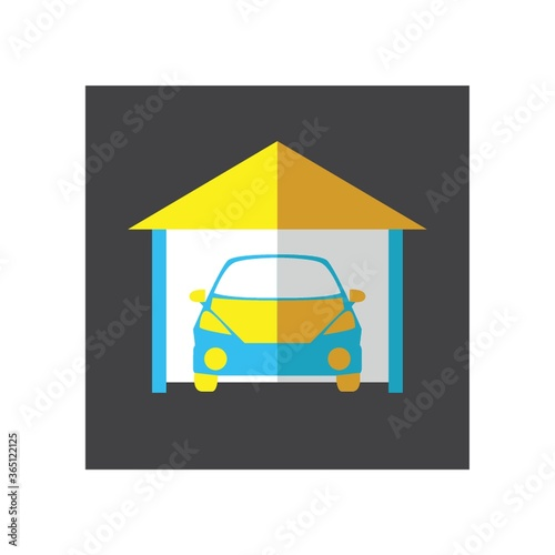 Fototapeta car in garage