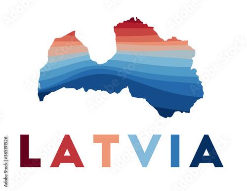 Photo Latvia map