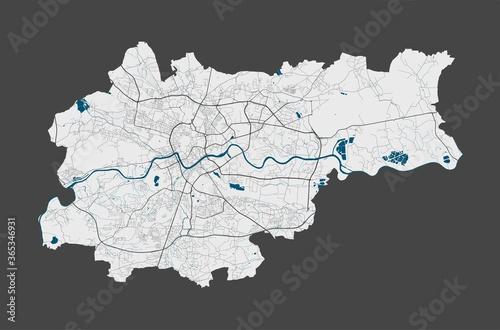 Fototapeta Krakow map