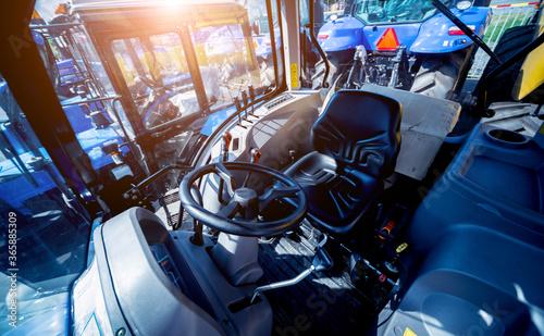 Fotografia Modern tractor cabin interior