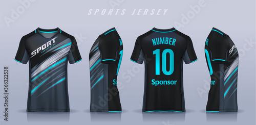 Wallpaper Mural t-shirt sport design template, Soccer jersey mockup for football club