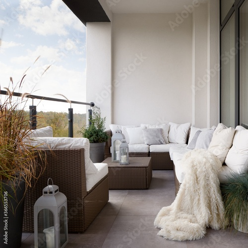Elegant decorations on balcony Fototapeta