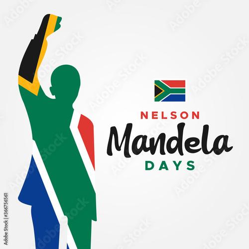 Photo International Nelson Mandela Day Vector Design Illustration For Celebrate Moment